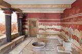 Room of the Throne, Palace of Knossos, Iraklion (Heraklion) (Iraklio) Photographic Print by Markus Lange