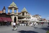 Gran Caffe Margherita and Art Nouveau Buildings Along Seafront Promenade, Viareggio, Tuscany Stampa fotografica di Stuart Black
