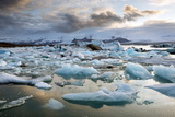 Sunset over Jokulsarlon Photographic Print by Lee Frost