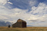 Mormon Row Barn under a Big Sky in Autumn (Fall), Antelope Flats, Grand Teton National Park Photographic Print by Eleanor Scriven