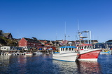 Commercial Fishing and Whaling Boats Line the Busy Inner Harbor in the Town of Ilulissat Photographic Print by Michael Nolan