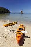 Kayaks on Beach, Torrent Bay, Abel Tasman National Park Photographic Print by Stuart Black