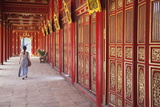 Woman at Imperial Palace in Citadel, Hue, Thua Thien-Hue, Vietnam, Indochina, Southeast Asia, Asia Photographic Print by Ian Trower