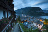 The Village of Hallstatt Illuminated at Dusk, Hallstattersee, Oberosterreich (Upper Austria) Photographic Print by Doug Pearson