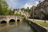 Cotswold Cottages on by Brook, Castle Combe, Cotswolds, Wiltshire, England, United Kingdom, Europe Photographic Print by Stuart Black