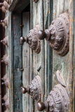 Detail of the Entrance Door to Iglesia De La Compania De Jesus Church on Plaza De Armas Photographic Print by Yadid Levy