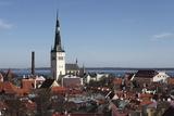 The Spire of St Olaf's Church (St Olav's Church) (Oleviste Kirik) on the City Skyline of Tallinn Photographic Print by Stuart Forster