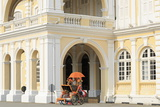 Trishaw Outside Georgetown Town Hall, Georgetown, Penang Island, Malaysia, Southeast Asia, Asia Photographic Print by Richard Cummins