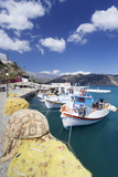Fishing Boats, Harbour, Agia Galini, South Coast, Crete, Greek Islands, Greece, Europe Photographic Print by Markus Lange