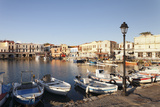 Old Venetian Harbour, Rethymno (Rethymnon), Crete, Greek Islands, Greece, Europe Fotografisk tryk af Markus Lange