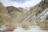 Frozen River in Rumbak Valley, Hemis National Park, Ladakh, India, Asia Photographic Print by Peter Barritt
