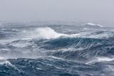 Gale Force Westerly Winds Build Large Waves in the Drake Passage, Antarctica, Polar Regions Fotodruck von Michael Nolan