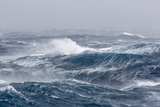 Gale Force Westerly Winds Build Large Waves in the Drake Passage, Antarctica, Polar Regions Photographic Print by Michael Nolan