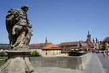 Statues on the Old Main Bridge,Wurzburg, Bavaria, Germany, Europe Photographic Print by Robert Harding