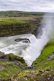 View of Gullfoss (Golden Waterfall), on the Hvita Rriver, Iceland, Polar Regions Photographic Print by Michael Nolan