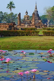 Wat Mahatat, Sukhothai Historical Park, Sukhothai, Thailand, Southeast Asia, Asia Fotodruck von Tuul