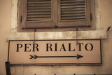 Street Sign, Venice, UNESCO World Heritage Site, Veneto, Italy, Europe Photographic Print by Amanda Hall