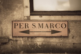 Street Sign, Venice, UNESCO World Heritage Site, Veneto, Italy, Europe Photographic Print by Amanda Hall