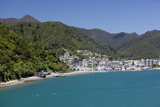 Picton Harbour from Ferry, Picton, Marlborough Region, South Island, New Zealand, Pacific Photographic Print by Stuart Black