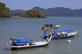 Fishing Boats in Porto Malai, Chenang City, Langkawi Island, Malaysia, Southeast Asia, Asia Photographic Print by Richard Cummins
