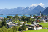 Elevated View over St. Gilgen, Wolfgangsee, Flachgau Photographic Print by Doug Pearson