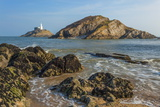 Mumbles Lighthouse, Bracelet Bay, Gower, Swansea, Wales, United Kingdom, Europe Photographic Print by Billy Stock