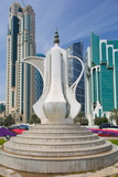 Tea Pot Sculpture, West Bay Central Financial District, Doha, Qatar, Middle East Photographic Print by Frank Fell