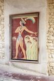 Fresco in Palace of Knossos, Iraklion (Heraklion) (Iraklio), Crete, Greek Islands, Greece, Europe Photographic Print by Markus Lange
