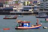 Fishing Boats in Pattaya City, Thailand, Southeast Asia, Asia Reproduction photographique par Richard Cummins