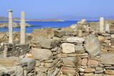 Delos Archaeological Ruins, Delos, Cyclades, Greek Islands, Greece, Europe Photographic Print by Richard Cummins