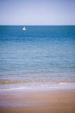 Sailing Boat, Seen from Swanage Beach, Dorset, England, United Kingdom, Europe Fotografisk trykk av Matthew Williams-Ellis