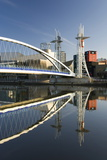 The Millennium Bridge Reflected in the Manchester Ship Canal, Salford Quays, Salford Photographic Print by Ruth Tomlinson