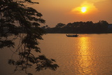 Perfume River (Huong River) at Sunset, Hue, Thua Thien-Hue, Vietnam, Indochina Photographic Print by Ian Trower
