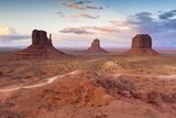 Monument Valley at Dusk on the Utah and Arizona Border, United States of America, North America Photographic Print by Chris Hepburn