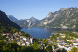 Elevated View over Picturesque Ebensee, Lake Traunsee, Salzkammergut Photographic Print by Doug Pearson
