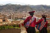 Elevated View over Cuzco and Plaza De Armas, Cuzco, Peru, South America Fotodruck von Yadid Levy