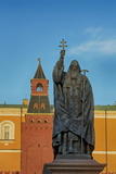 Statue of Patriarch Hermogenes in Alexander Gardens Near the Kremlin, Moscow, Russia, Europe Photographic Print by Martin Child