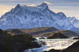 Salto Chico and Cordillera Del Paine, Torres Del Paine National Park, Patagonia Photographic Print by Eleanor Scriven