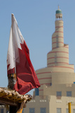 Flag of Qatar and Islamic Cultural Centre, Doha, Qatar, Middle East Photographic Print by Frank Fell