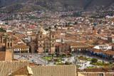Elevated View over Cuzco and Plaza De Armas, Cuzco, Peru, South America Fotografie-Druck von Yadid Levy