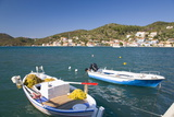 View across the Harbour, Colourful Fishing Boat in Foreground, Vathy (Vathi) Photographic Print by Ruth Tomlinson