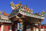 Gateway to Hainan Temple, Nathon City, Koh Samui Island, Thailand, Southeast Asia, Asia Photographic Print by Richard Cummins