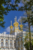 Exterior View of the Catherine Palace, Tsarskoe Selo, St. Petersburg, Russia, Europe Photographic Print by Michael Nolan