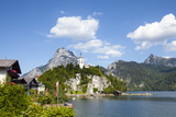 Johannesberg Chapel and Lake Traunsee, Traunkirchen, Salzkammergut, Upper Austria, Austria, Europe Photographic Print by Doug Pearson