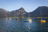 Yachts on Wolfgangsee Lake, Flachgau, Salzburg, Upper Austria, Austria, Europe Photographic Print by Doug Pearson