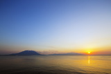Sunrise over Sakurajima Volcano, Kagoshima, Kyushu, Japan, Asia Photographic Print by Christian Kober