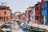 Colored Houses on the Island of Burano, Venice, Veneto, Italy, Europe Photographic Print by Julian Elliott