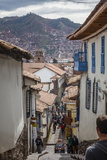 Street Scene in San Blas Neighbourhood, Cuzco, UNESCO World Heritage Site, Peru, South America Fotodruck von Yadid Levy