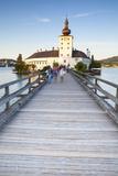 Picturesque Schloss Ort, Lake Traunsee, Gmunden, Salzkammergut, Upper Austria, Austria, Europe Photographic Print by Doug Pearson