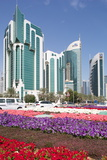 City Centre Buildings and Corniche Traffic, Doha, Qatar, Middle East Photographic Print by Frank Fell